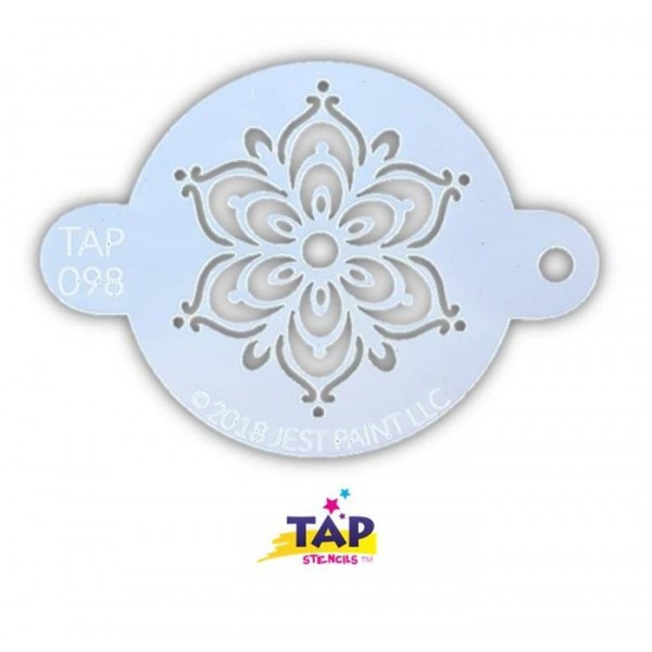 TAP Stencil 098 Full Henna Fancy Flower